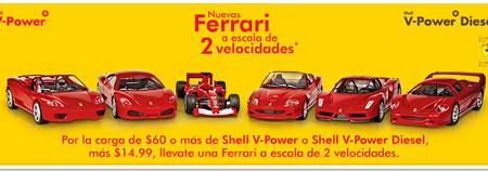 Ferraris en miniatura con Shell