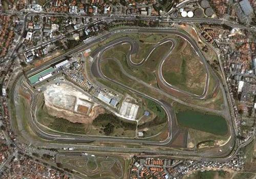 Vista aérea del circuito de Interlagos