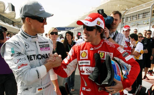 Alonso ve en Schumacher y Vettel sus principales contendientes